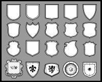 Écrans protecteurs héraldiques illustration de vecteur