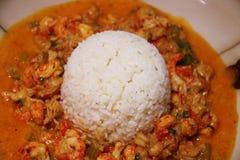 Écrevisses Etouffee avec du riz photos libres de droits