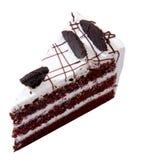Écrimage de gâteau de chocolat avec la souris Photo stock