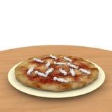 Écrimage de pizza Photos stock