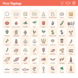 Écrimages de pizza illustration libre de droits