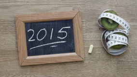 2015 écrit Photos stock
