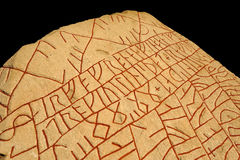 Écrit dans la pierre par Viking Photo libre de droits