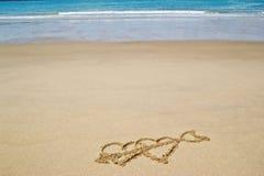 Écrit dans le sable sur la plage Image libre de droits