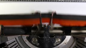 Écrit JE T'AIME fait avec la machine à écrire Photo stock