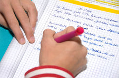 Écriture photo libre de droits
