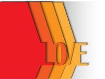 Écriture abstraite de l'AMOUR pour le jour de StValentine illustration libre de droits
