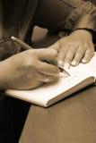 Écriture comptable Photographie stock libre de droits
