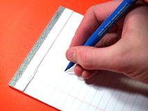 Écriture comptable Image stock