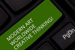 Écriture conceptuelle de main montrant Art Worldwide Creative Thinking moderne Créativité de présentation de photo d'affaires art image stock