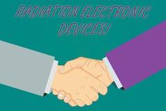 Écriture conceptuelle de main montrant des appareils électroniques de rayonnement La radiofréquence de présentation de photo d'af illustration de vecteur