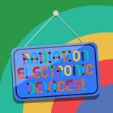 Écriture conceptuelle de main montrant des appareils électroniques de rayonnement Radiofréquence des textes de photo d'affaires é illustration stock