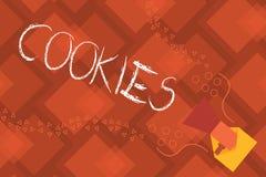 Écriture conceptuelle de main montrant des biscuits Petit délicieux de casse-croûte de nourriture de dessert doux de biscuit des  illustration stock