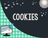 Écriture conceptuelle de main montrant des biscuits Photo d'affaires présentant le casse-croûte délicieux de nourriture de desser illustration de vecteur