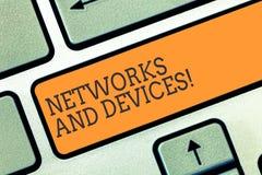 Écriture conceptuelle de main montrant des réseaux et des dispositifs Présentation de photo d'affaires employée pour relier des o image stock