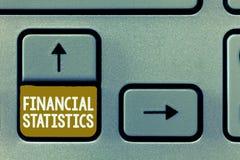 Écriture conceptuelle de main montrant des statistiques financières Ensemble complet de présentation de photo d'affaires d'action photos stock