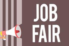 Écriture conceptuelle de main montrant Job Fair Photo d'affaires présentant un événement où une personne peut faire acte de candi illustration stock