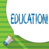 Écriture conceptuelle de main montrant l'éducation Enseignement de présentation de photo d'affaires des étudiants par exécution d illustration libre de droits