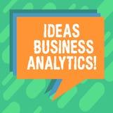 Écriture conceptuelle de main montrant l'Analytics d'affaires d'idées La photo d'affaires présentant l'exploration méthodique d'u image stock
