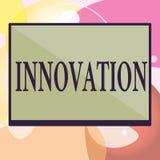 Écriture conceptuelle de main montrant l'innovation Créatif de nouveau de méthode des textes de photo d'affaires différent produi illustration de vecteur