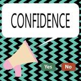 Écriture conceptuelle de main montrant la confiance Le texte de photo d'affaires ont la foi comptent dedans sur quelqu'un ou quel images stock