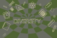 Écriture conceptuelle de main montrant la diversité État de présentation de photo d'affaires d'être mélange différent de choses d illustration de vecteur