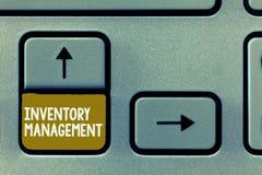 Écriture conceptuelle de main montrant la gestion des stocks Photo d'affaires présentant surveillant le stockage de contrôle des  photographie stock