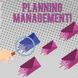 Écriture conceptuelle de main montrant la gestion de planification Acte des textes de photo d'affaires ou processus de faire ou d illustration libre de droits