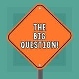 Écriture conceptuelle de main montrant la grande question Photo d'affaires présentant la grande matière qui exigeant la résolutio illustration de vecteur
