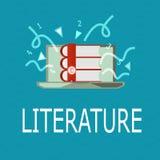Écriture conceptuelle de main montrant la littérature La photo d'affaires présentant des écritures écrites de livres de travaux a illustration de vecteur