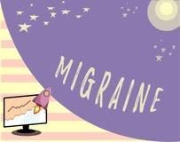 Écriture conceptuelle de main montrant la migraine Mal de tête de palpitation récurrent des textes de photo d'affaires qui affect illustration libre de droits