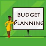 Écriture conceptuelle de main montrant la planification de budget Photo d'affaires présentant la description écrite au sujet des  illustration stock