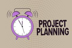 Écriture conceptuelle de main montrant la planification de projets Programmes des textes de photo d'affaires tels que des diagram illustration de vecteur