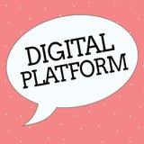Écriture conceptuelle de main montrant la plate-forme de Digital Campagne de marketing des textes de photo d'affaires ou service  illustration stock