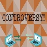 Écriture conceptuelle de main montrant la polémique Désaccord ou argument des textes de photo d'affaires au sujet de quelque chos illustration libre de droits