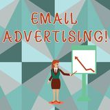 Écriture conceptuelle de main montrant la publicité d'email Acte de présentation de photo d'affaires d'envoyer un message commerc illustration de vecteur