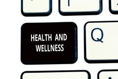 Écriture conceptuelle de main montrant la santé et le bien-être État des textes de photo d'affaires d'examen médical complet, men photo stock