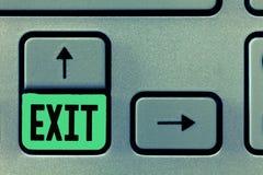 Écriture conceptuelle de main montrant la sortie Rampe de sortie des textes A de photo d'affaires où le trafic peut laisser une r photographie stock libre de droits