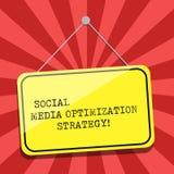 Écriture conceptuelle de main montrant la stratégie d'optimisation sociale de médias Photo d'affaires présentant SEO Advertising  illustration de vecteur
