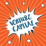 Écriture conceptuelle de main montrant le capital-risque Le financement de présentation de photo d'affaires a fourni par des entr illustration stock