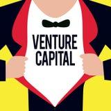 Écriture conceptuelle de main montrant le capital-risque Le financement de présentation de photo d'affaires a fourni par des entr illustration libre de droits
