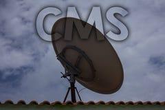 Écriture conceptuelle de main montrant le CMS Modification d'assistances techniques de gestion de contenu des textes de photo d'a illustration libre de droits