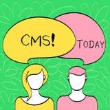 Écriture conceptuelle de main montrant le CMS Modification d'assistances techniques de gestion de contenu des textes de photo d'a illustration de vecteur