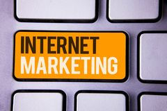 Écriture conceptuelle de main montrant le marketing d'Internet Entrepreneur en ligne Entrepreneurship G de mise en réseau de comm Photographie stock