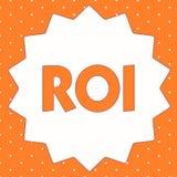 Écriture conceptuelle de main montrant le ROI Mesure de représentation de présentation de photo d'affaires employée pour évaluer  illustration stock