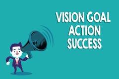 Écriture conceptuelle de main montrant le succès d'action de but de vision Acte de processus de planification stratégique des tex illustration libre de droits