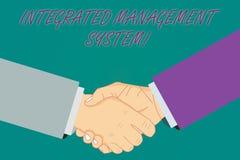 Écriture conceptuelle de main montrant le système de gestion intégré La présentation de photo d'affaires combine tous les composa illustration de vecteur