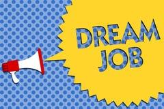 Écriture conceptuelle de main montrant le travail rêveur Photo d'affaires présentant un acte qui est payé par du salaire et de te illustration libre de droits