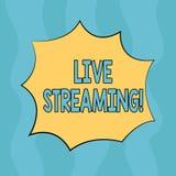 Écriture conceptuelle de main montrant Live Streaming Émission en temps réel de technologie de multimédia de transmission de médi illustration de vecteur