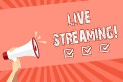 Écriture conceptuelle de main montrant Live Streaming Technologie de multimédia en temps réel de présentation de transmission de  illustration de vecteur